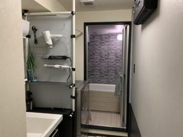 賃貸浴室&洗面所のDIY、防水壁紙と水栓交換~ポールラック自作~完成まで!【結果報告】